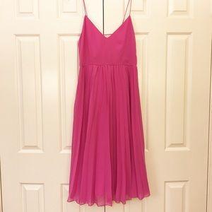 ASOS pink chiffon pleated sleeveless dress SZ 6